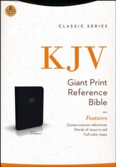 KJV Giant Print Center Column Reference Bible, Leatherflex, Black
