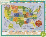 Hip Hip Horray It's the USA Floor Map Puzzle