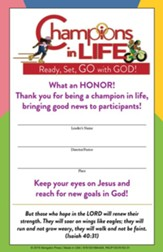 Champions in Life: Leader Certificate (pkg. of 12)
