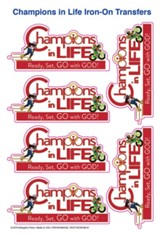 Champions in Life: Iron-On Transfers (pkg. of 12)