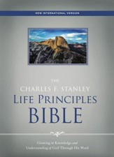 NIV, The Charles F. Stanley Life Principles Bible, Ebook, Red Letter Edition - eBook