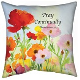 Pray Continually Pillow