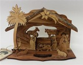 Nativity Scene Grotto with Laser Cut Figures