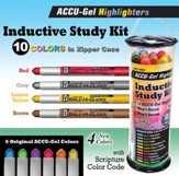Inductive Bible Study Kit, Gel Highlighters, Pack of 10