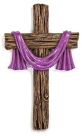 Purple Sash Wall Cross