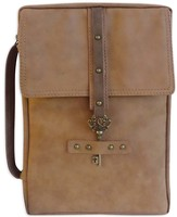 Distressed Bible Cover with Key Accent, Saddle Brown, X-Large
