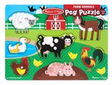 Farm Animals 8-Piece Peg Puzzle