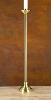 Polished Brass Paschal Candlestick 41 x 7