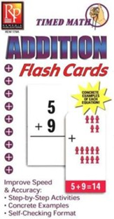 Timed Math Flash Cards Addition