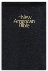 NABRE Deluxe Gift Bible, Imitation Leather, Black  Zipper Close