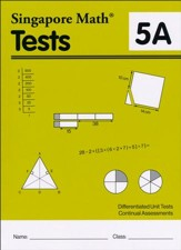 Singapore Math Tests 5A (Primary  Mathematics Common Core Edition)