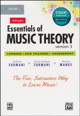Essentials of Music Theory Version 3 CD-Rom Student Version, Volume 1