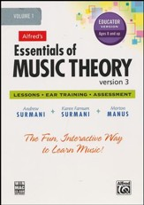 Essentials of Music Theory CD-Rom Educator's Version 3, Volume 1