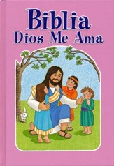 Biblia Dios Me Ama, Rosa  (God Loves Me Bible, Pink)