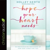 Hope Your Heart Needs: 52 Encouraging Reminders of How God Cares for You - unabridged audiobook on CD