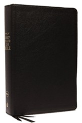 NKJV Comfort Print Spirit-Filled Life Bible, Third Edition, Genuine Leather, Black