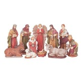 Nativity Set, Sparkle Frost, 11 Pieces, 5 Inches