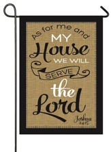 As For Me and My House, We Will Serve the Lord, Applique Flag, Small