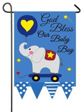 God Bless Our Baby Boy, Applique Flag, Small