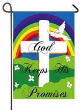 God Keeps His Promises, Applique Flag, Small