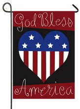 God Bless America, Applique Flag, Small