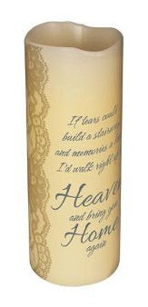 Abiding Light LED Candle, Vanilla Scented, Heaven's Tears, 8x3