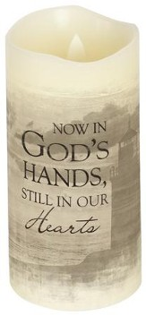 Everlasting Glow LED Candle, Vanilla Scented, Now In God's Hands, 6x3