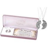 Mizpah Coin Necklace Set