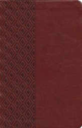 NKJV Center Column Reference Bible, Imitation leather, Mediterranean brown--indexed