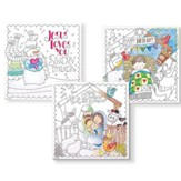 Christmas, Coloring Sheets, Pack of 6