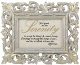 Serenity Prayer, Rectangle Resin Frame