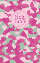 NKJV Camouflage Bible, cloth softcover, pink
