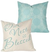 Our Nest Is Blessed Decorative Pillow