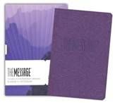 The Message Bible, Lavender Embossed, Text Bible, Imitation Leather