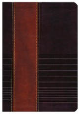 NKJV Study Bible, Second Edition, Leathersoft, Rustic Brown/Dark Mahogany