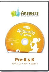 Answers Bible Curriculum Year 3 Quarter 2 Preschool  Teacher Kit on CD-ROM