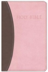 KJVer (Easy Reader) Personal Size Bible, Ultrasoft Chocolate/Pink
