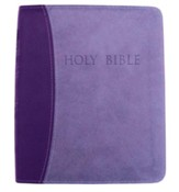 KJVer (Easy Reader) Large Print Thinline Bible, Ultrasoft Dark Purple/Light Purple, Thumb Indexed