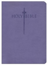 KJV Large Print Sword Study Bible, Ultrasoft Purple