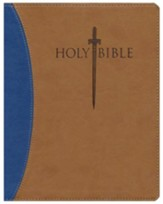 KJV Giant Print Sword Study Bible, Ultrasoft Blue/Tan