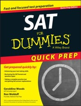 SAT For Dummies, 2015 Quick Prep Edition