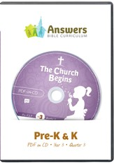 Answers Bible Curriculum Year 3 Quarter 3 Preschool Teacher Kit on CD-ROM - Slightly Imperfect