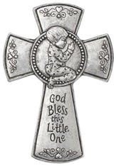 God Bless This Little One Wall Cross, Boy