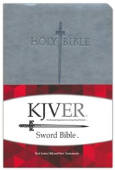 KJVer (Easy Reader) Large Print Sword Value Thinline Bible, Ultrasoft Gray