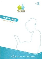 Answers Bible Curriculum Year 3 Quarter 4 Jr. High Teacher Kit