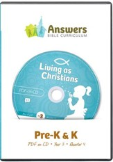 Answers Bible Curriculum Year 3 Quarter 4 Preschool Teacher Kit on CD-ROM