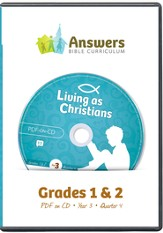 Answers Bible Curriculum Year 3 Quarter 4 Grades 1-2 Teacher Kit on CD-ROM