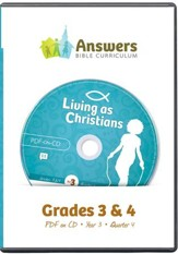 Answers Bible Curriculum Year 3 Quarter 4 Grades 3-4 Teacher Kit on CD-ROM