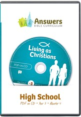 Answers Bible Curriculum Year 3 Quarter 4 High School Teacher Kit on CD-ROM
