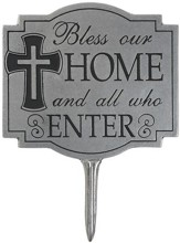 Bless Our Home Garden Sign